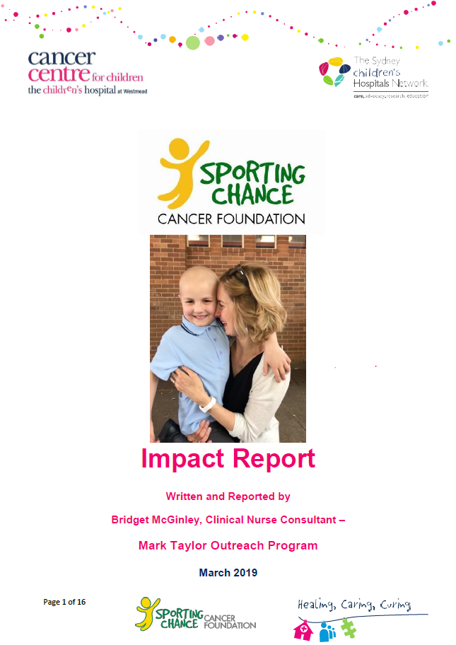 Sporting Chance Cancer Foundation Impact Report